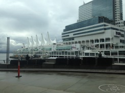 My breakfast view of Canada Place - site to one of the stops in the Amazing Race Canada